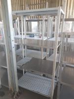 Стеллаж для посуды металлический 1000*600*1800 БУ