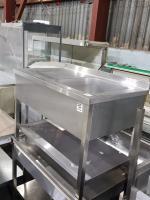 Ванна моечная с рабочей поверхностью цельнонатянутая 1200*700 БУ